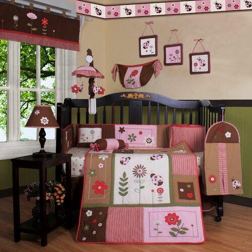 Boutique Ladybug Flower 13 Piece Crib Bedding Set