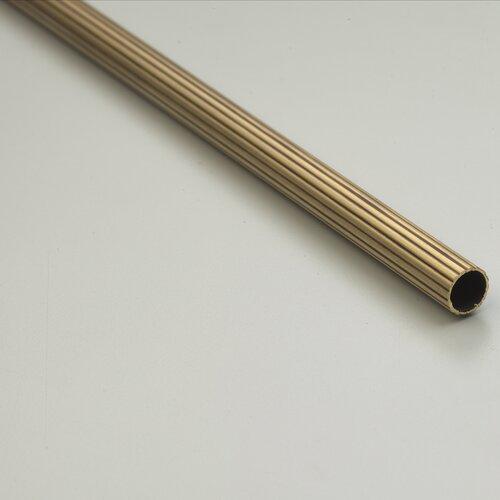 "Zoroufy Heritage 72"" Fluted Tubular Stair Rod Set Regular Brackets Crown Finial"