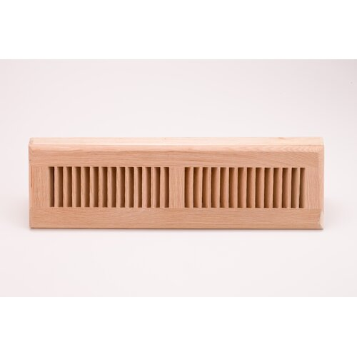 "Zoroufy 14.375"" x 4.375"" White Oak Flush Mount Vent"