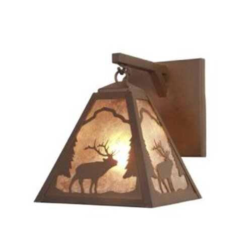 Steel Partners Elk Timber Ridge Hanging 1 Light Wall Sconce