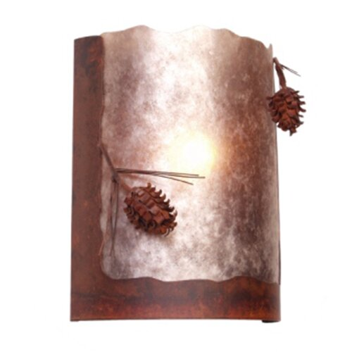 Steel Partners Ponderosa Pine Timber Ridge 1 Light Wall Sconce