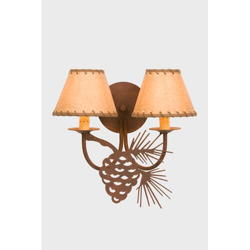 Steel Partners Pinecone Double Light Wall Sconce