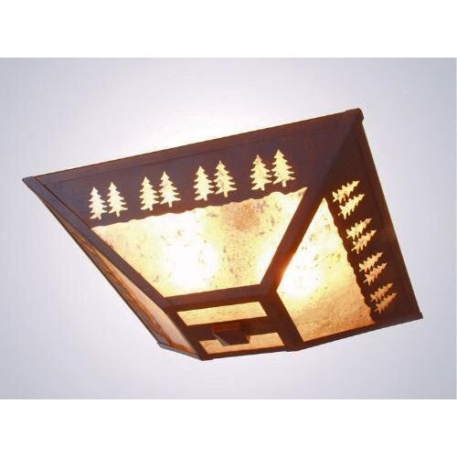 Steel Partners Band of Trees 2 Light Drop Ceiling Mount