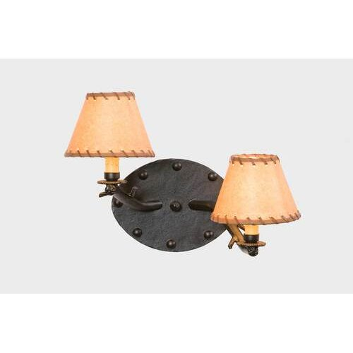 Steel Partners Rivets Timber 2 Light Wall Sconce