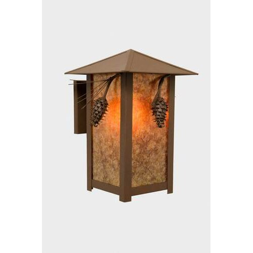 Steel Partners Ponderosa Pine 1 Light Outdoor Ridge Top Wall Lantern