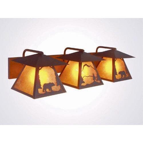 Steel Partners Bear Twin Prairie 3 Light Vanity Light