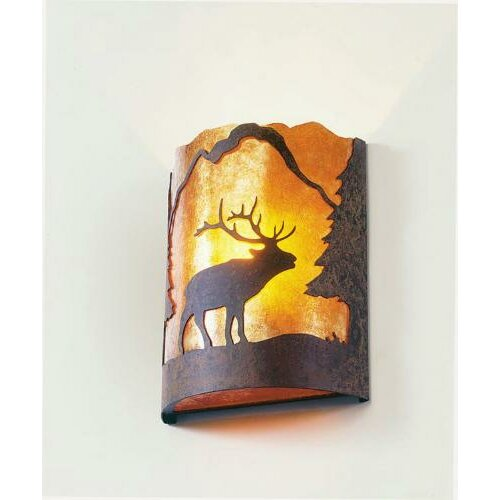 Steel Partners Elk Timber Ridge 1 Light Wall Sconce