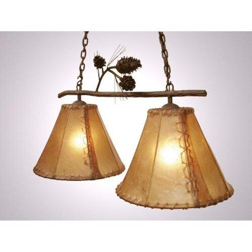 Steel Partners Ponderosa Pine Round Rawhide Double Anacosti Light Pendant