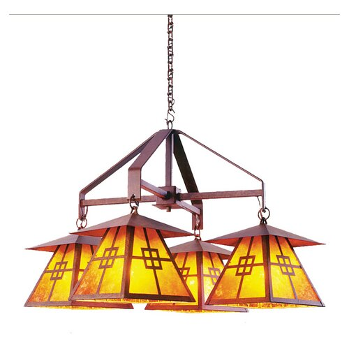 Steel Partners Prairie 4 Light Chandelier