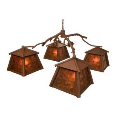 Steel Partners Saranac 4 Light Chandelier