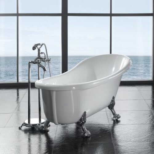 "Ove Decors Clawfoot 66'' x 28"" Acrylic  Slipper Tub"