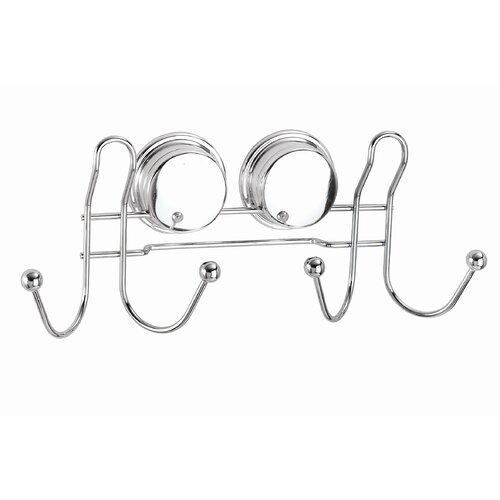 Croydex Twist N' Lock Plus Wall Mounted Double Robe Hook