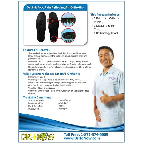 Dr-Ho's Air Insoles Orthotics Adaptive Clothing