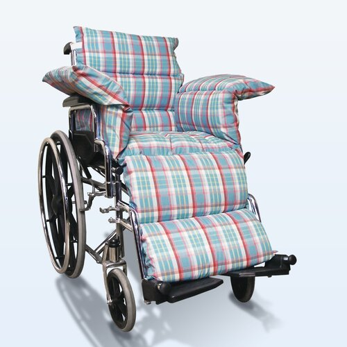 NYOrtho Wheelchair Comfort Seat in Pastel Plaid