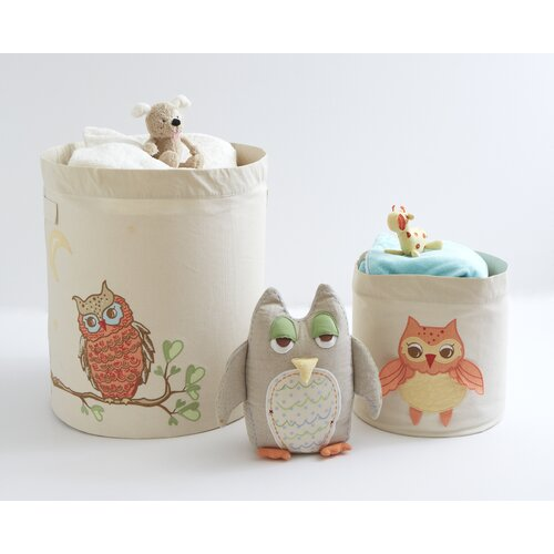 The Little Acorn Baby Owls Toy Storage Bin