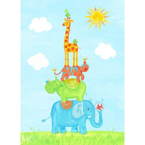 The Little Acorn Funny Friends Party Canvas Art