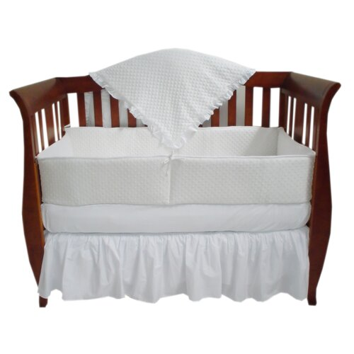American Baby Company Heavenly Soft 4 Piece Minky Dot Crib Bedding Set