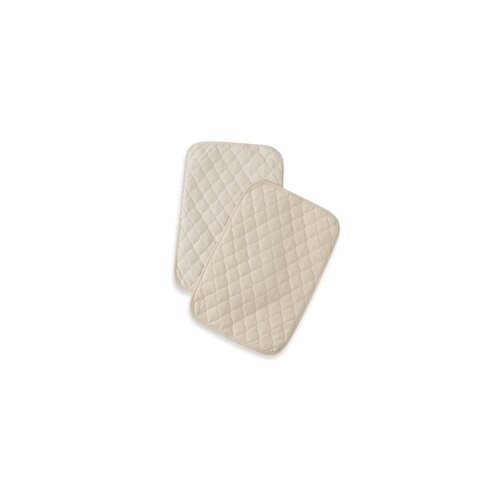American Baby Company Waterproof Quilted Lap and Burp Pad Covers Two Pack Set