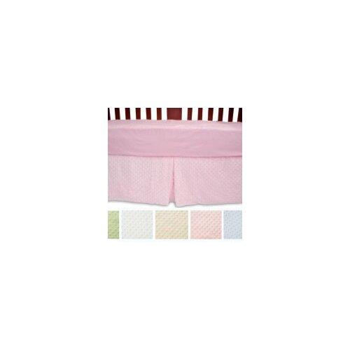 Heavenly Soft Minky Dot Crib Skirt