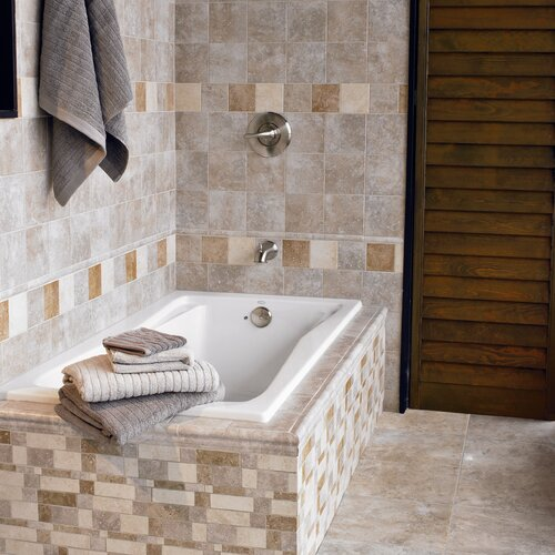 "Interceramic Montreaux 16"" x 6-1/2"" Random Mosaic Linear Border"