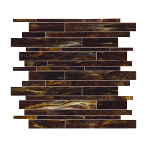 Marazzi Catwalk Random Sized Glass Mosaic in Walnut Wedge