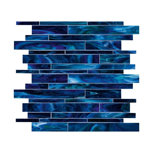Marazzi Catwalk Random Sized Glass Mosaic in Blue Ballet