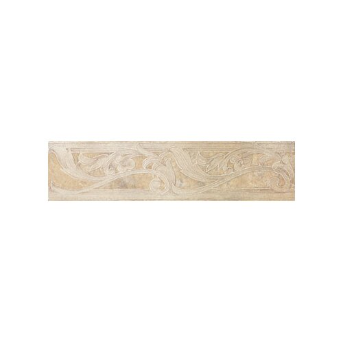 "Marazzi Aida 12"" x 3"" Border Tile in Tebe Beige Gray"