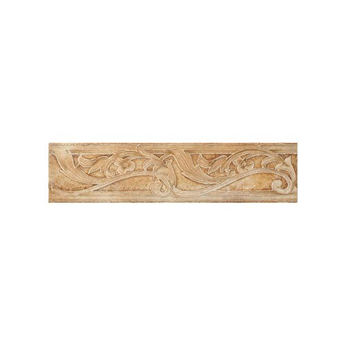 "Marazzi Aida 12"" x 3"" Border Tile in Tebe Brown Gold"