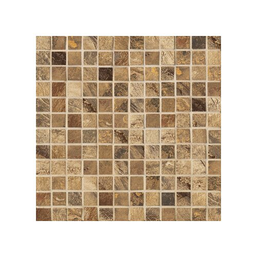 "Marazzi Jade 1"" x 1"" Decorative Square Mosaic in Chestnut"