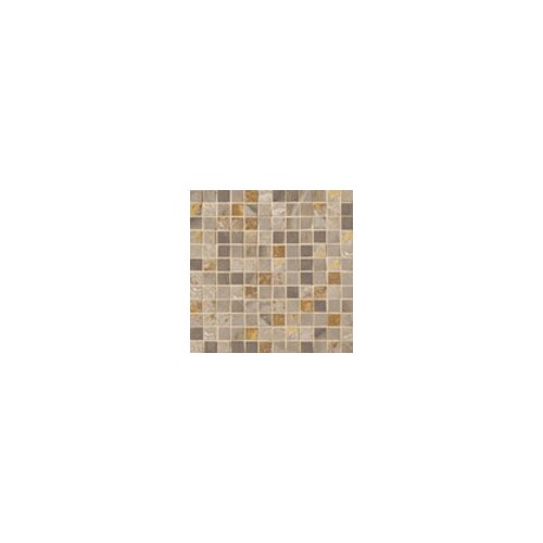 "Marazzi Jade 1"" x 1"" Decorative Square Mosaic in Taupe"