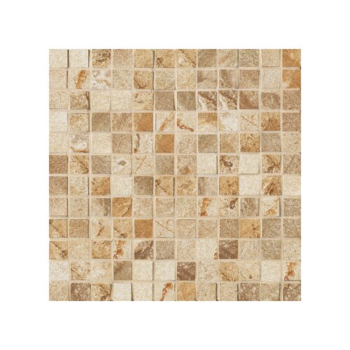 "Marazzi Vesale Stone 1"" x 1"" Decorative Square Mosaic in Sand"