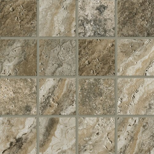 """Marazzi Archaeology 3"""" x 3"""" ColorBody Porcelain Mosaic in Crystal River"""
