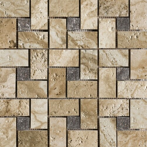 Marazzi Archaeology Random Sized ColorBody Porcelain Glass Pinwheel Mosaic in Babylon