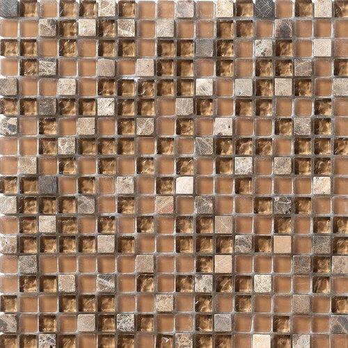 Crystal Stone Glass/Stone Mosaic in Walnut