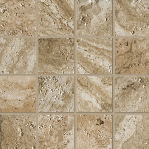 "Marazzi Archaeology 3"" x 3"" ColorBody Porcelain Mosaic in Babylon"