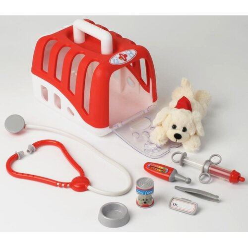 Theo klein Vet Transport Crate with Dog