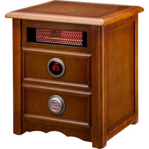 Dr. Infrared Heater Advanced Dual Heating System 1,500 Watt Infrared Cabinet Space Heater with Remote Control