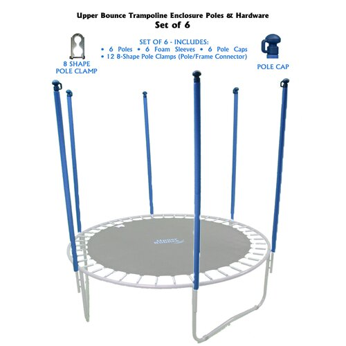 Upper Bounce 30 Piece Trampoline Enclosure Poles Kit