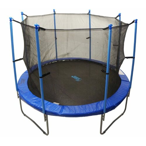 Upper Bounce 14 Ft Trampoline Enclosure Net: Upper Bounce 14' Round Trampoline Net Using 8 Poles Or 4
