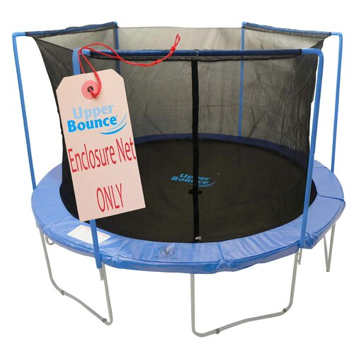 Upper Bounce 14' Trampoline Enclosure Safety Net Fits For 14 FT. Round Frames Using 3 Arches, with Sleeves on top (poles not included)
