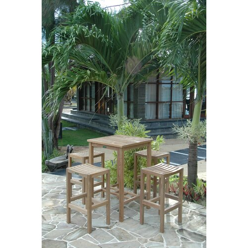 Avalon 5 Piece Bar Height Dining Set