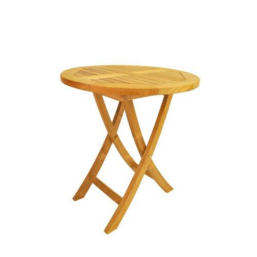 "Anderson Teak Bahama 27"" Round Bistro Folding Table"