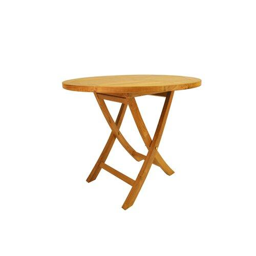 "Anderson Teak Bahama 35"" Round Bistro Folding Table"