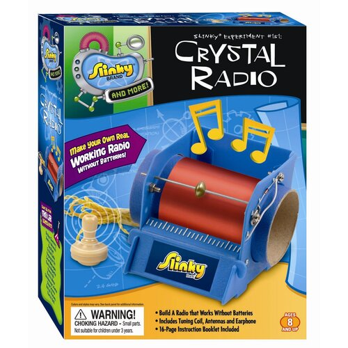POOF-Slinky, Inc Crystal Radio / Electric Motor - Combo Pack