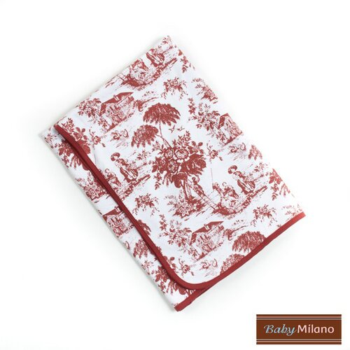Baby Milano Baby Blanket in Burgundy Toile
