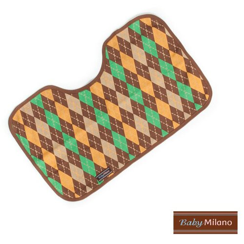 Baby Milano Burp Cloth in Brown Argyle