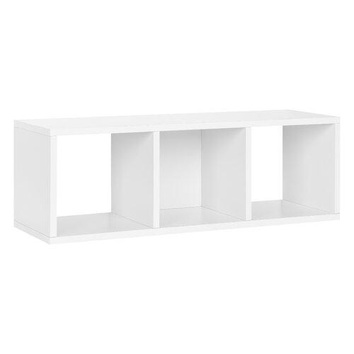 Way Basics Way Basics Eco 3 Cubby Storage Bench and Stackable Organizer