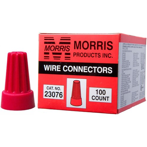 Morris Products Screw-On Wire P6 Connectors in Red (Boxed 100 Pack)