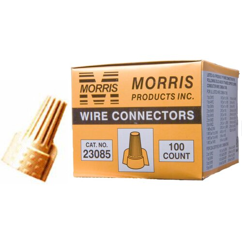Morris Products Twisted Wing Connectors in Tan (Boxed 100 Pack)