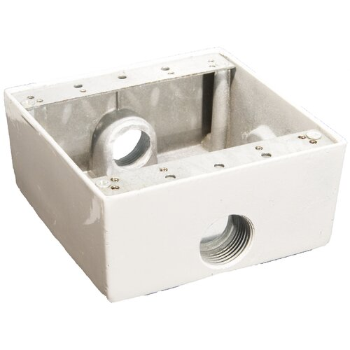Morris Products Weatherproof Boxes in White with Outlet Holes